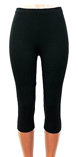Moda Age Women's Ultra Soft Brushed Best Patterned Printed Leggings - Regular Sizes (Size 0-14) (Regular (Size 0-14), Solid Black)