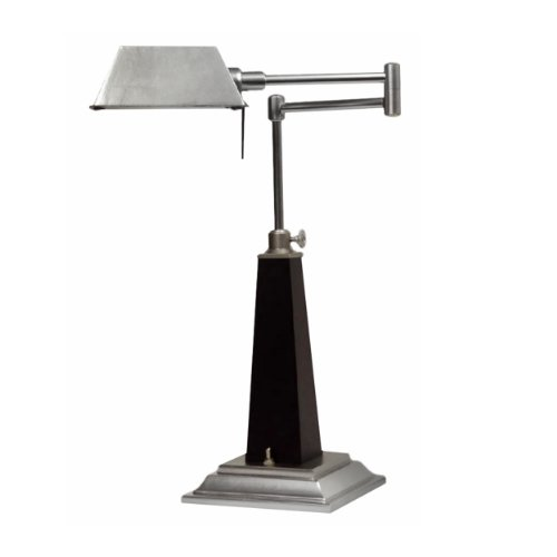 BEME International Emmet Desk Lamp (Walnut Table Nickel Lamp)