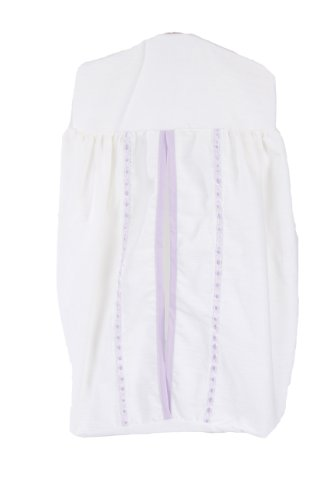 Baby Doll Bedding Unique Crib Diaper Stacker, Lavender