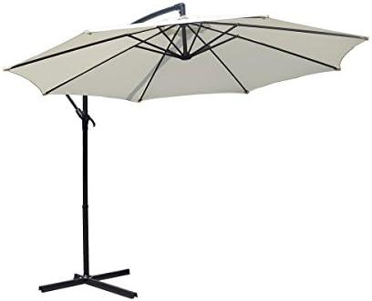 GELUSA Sombrilla Parasol 3m de para terraza jardín Fiestas partio protección Solar UV: Amazon.es: Jardín