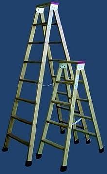 Escalera madera plegable tijera con soporte y tacos 5 peldaños: Amazon.es: Bricolaje y herramientas