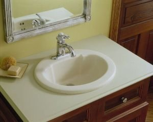 (STERLING 65010640-0 20-Inch by 17-Inch Self Rimming Oval Lavatory, White)