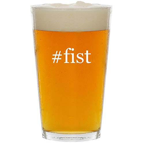 #fist - Glass Hashtag 16oz Beer Pint