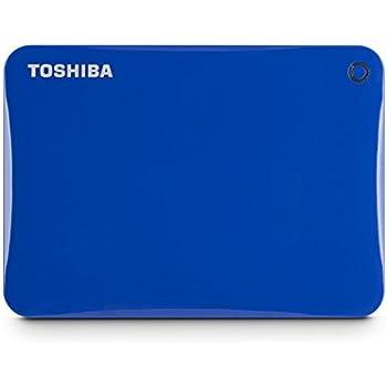 Toshiba Canvio Connect II 2TB Portable Hard Drive, Blue (HDTC820XL3C1)