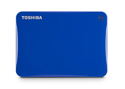 Toshiba Canvio Connect II 2TB Portable Hard Drive, Blue (HDTC820XL3C1)
