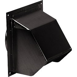 """Broan 843BL Wall Cap Black for 6"""" round duct"""