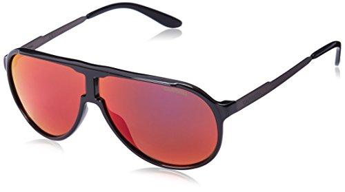 Carrera New Champion Aviator Sunglasses, Black Dark Ruthenium & Black Brown, 62 - By Carrera Sunglasses Safilo
