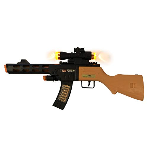 LilPals' 17 Inch Superior Performance Powered Toy Machine Gun - Rifle Features Dazzling Electric Light, Amazing Electronic Sound & Unique Action