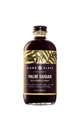 Palm Sugar Rich Simple Syrup | by Blank Slate Kitchen | 8 ounce | Cocktail Mixer or Dessert Topping