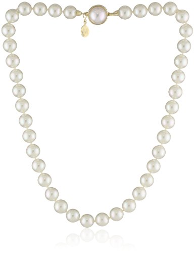 - Majorica Single-Row White Simulated Pearl (10mm) Necklace, 18