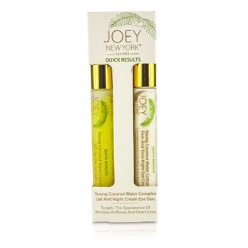 Joey New York Young Coconut Water Complex Day Gel and Night Cream Eye Duo, 1.0 Ounce (Joey York New Pure Pores)