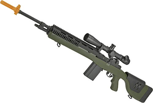 Evike G&P M14 DMR Custom Airsoft AEG Sniper Rifle - Railed Tactical Version (Package: Foliage Green/Add Battery + Charger)