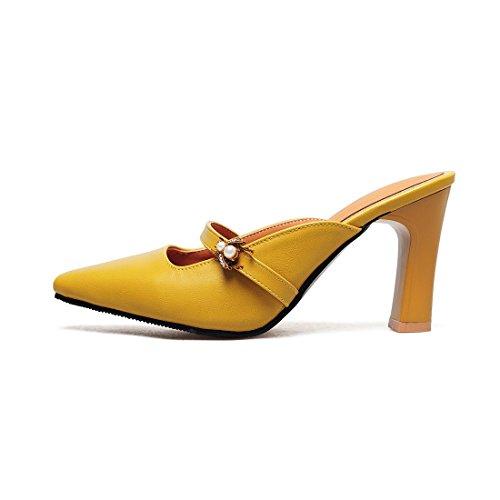 sandali sandali e sandali giallo baotou trentotto retro RZqxAIU
