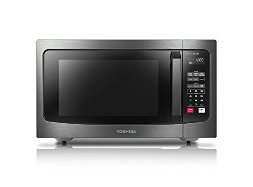 Hamilton Digital Clock (Toshiba EM245A5C-BS Microwave Oven with Inverter Technology and Smart Sensor, 1.6 Cu.ft, 1250W, Black Stainless Steel)