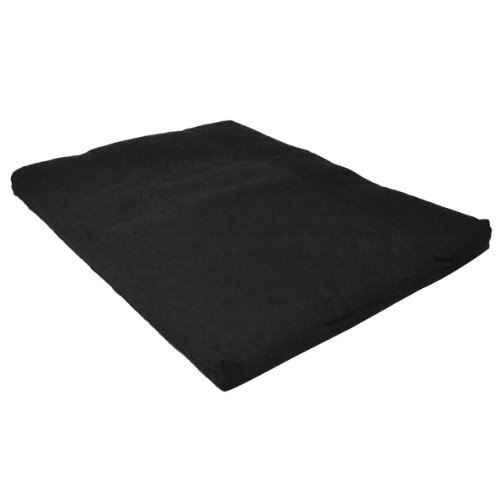 YogaDirect 100-Percent Cotton Zabuton Meditation Cushion, Black