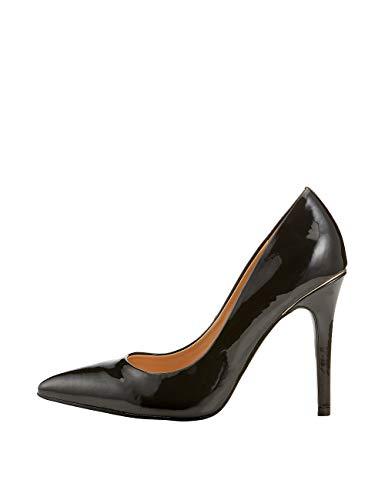 De Lipsy Mujer Ribetes Zapatos Eu Negro Salón 39 6 Con uk q1B1E