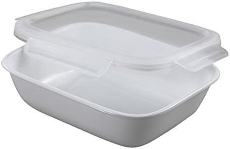 Amazon Com Corelle Serve Store 1 9l Rectangle White Home Kitchen