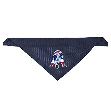8a275e9e1 Amazon.com : Littlearth New England Patriots Dog Cat Mesh Jersey Throwback  Bandana Navy L/XL : Sports & Outdoors
