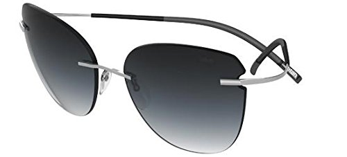 Silhouette Titan Minimal Art The Icon 8156 6235 Ruthenium/Black Sunglasses 68mm ()