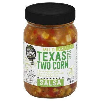 Culinary Tours Texas Two Corn Style Mild Salsa 16oz, pack of 1 by Culinary Tours