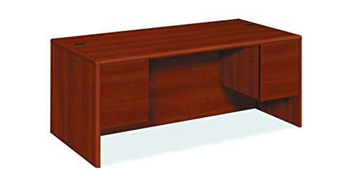 - HON 10791CO 10700 Series Desk, 3/4 Height Double Pedestals, 72 x 36 x 29 1/2, Cognac