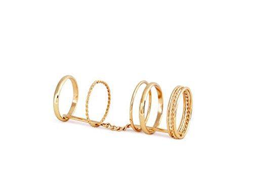 Retro anillo para dedo / Fashion Midi-Anillo / Múltiples anillos para apilar / Chapado en oro de DesiDo®