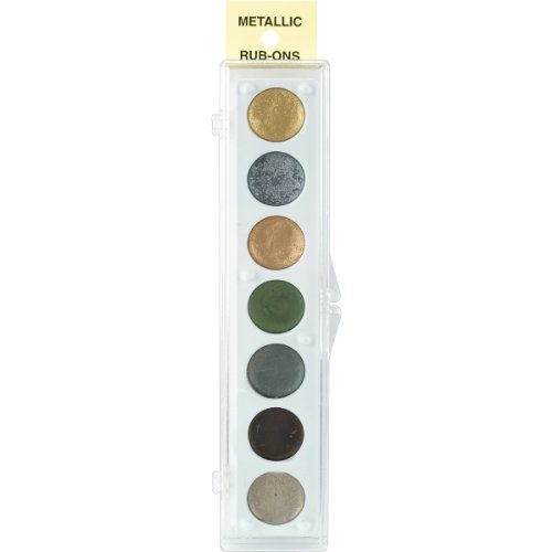 Craf-T Products Metallic RubOn Paint Set 7 ColorsKit #2