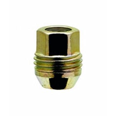 "White Knight 2007S-4 Zinc Gold (3/4"" Hex Size) Open End Dual Thread Lug Nut - 4 Piece: Automotive"