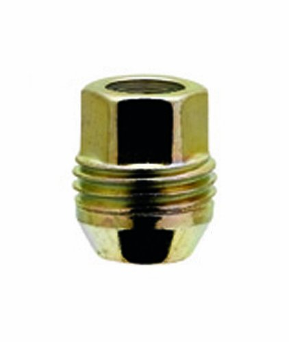 White Knight 2009S-4 Zinc Gold (3/4'' Hex Size) Open End Dual Thread Lug Nut - 4 Piece by White Knight
