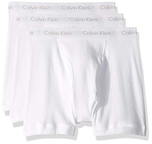 Calvin Klein Men's Underwear Cotton Classics Boxer Briefs - Large - White (Pack of 3)