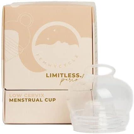 FemmyCycle Menstrual cup/Copa Menstrual LOW CERVIX (Cuello uterino) size