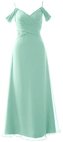 Formal MACloth Wedding Shoulder Aqua the Long Off Party Bridesmaid Gown Dress Elegant AxzAw6qn7