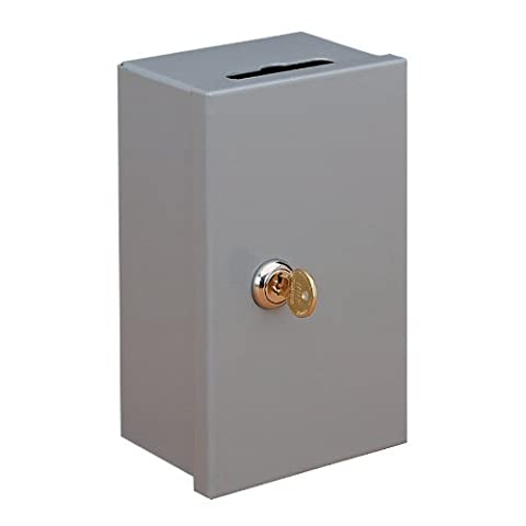 STEELMASTER Drop-In Key Control Boxes, Keyed Differently, 4.38 x 7.25 x 3.25 Inches, Gray ()