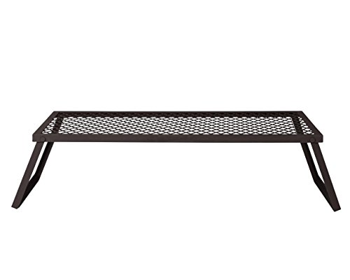 AmazonBasics Extra Large Portable Folding Camping Grill Grate - 40 x 18 x 9 Inches, Black Steel