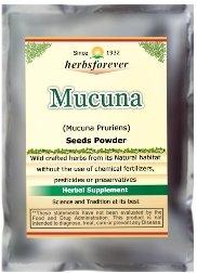Mucuna Powder (Seed) (Kaunch, Mucuna Pruriens) (Ayurvedic Formulation) (Wild Crafted from natural habitat) Nervine tonic curbs depression Additive and gluten free 8.11 Oz, 230 Gms (Nervine Tonic)