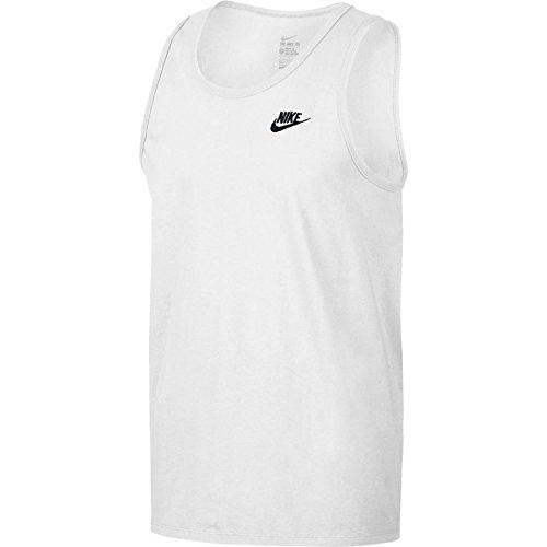 Nike Club Embroidered Swoosh Men's Sleeveless T-Shirt (Small, White)