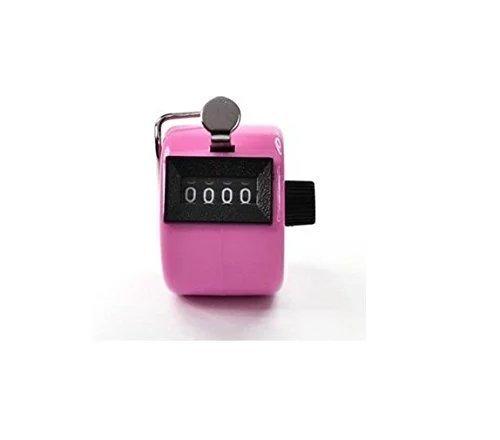 Contador manual de 4 d/ígitos Switty Bluecell color rosa