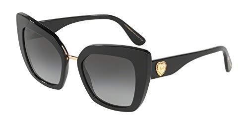 (Dolce & Gabbana Women's DG4359 Black/Grey Gradient One Size)