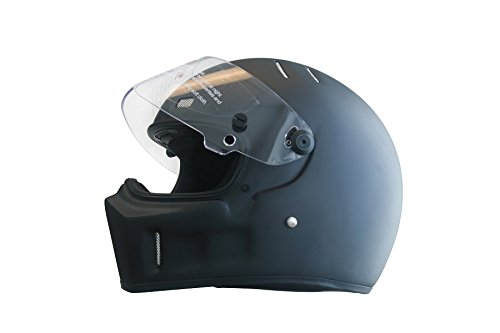 CRG Sports ATV Motocross Motorcycle Scooter Full-Face Fiberglass Helmet DOT Certified ATV-1 Matte Black Size Large by CRG Sports (Image #2)