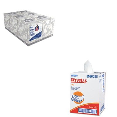 KITKIM05860KIM21271 - Value Kit - Wypall 05860 Professional Towels (KIM05860) and KIMBERLY CLARK KLEENEX White Facial Tissue (KIM21271)