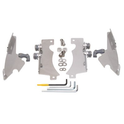 Memphis Shades MEM8972 Polished Trigger-Lock Mount Kit for Honda VT1100C2 and VT750C Shadow Sabre 2000-2007