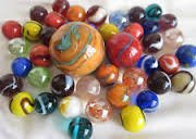 Glass Marbles - Half Pound of Rounds by Mega Fun USA (Pack of 2)