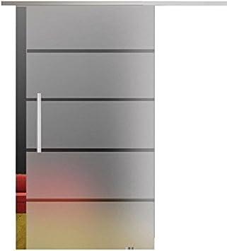 Dorint rayas de 1 puerta corredera de cristal templado de 8 mm 2175 X 1025 mm Dorma Agile 50 – Herraje Barra Mango, Juego Completo para puerta y herraje: Amazon.es: Bricolaje y herramientas