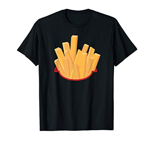 Cool Funny French Fries Halloween Costume Shirt Lazy Gift ()
