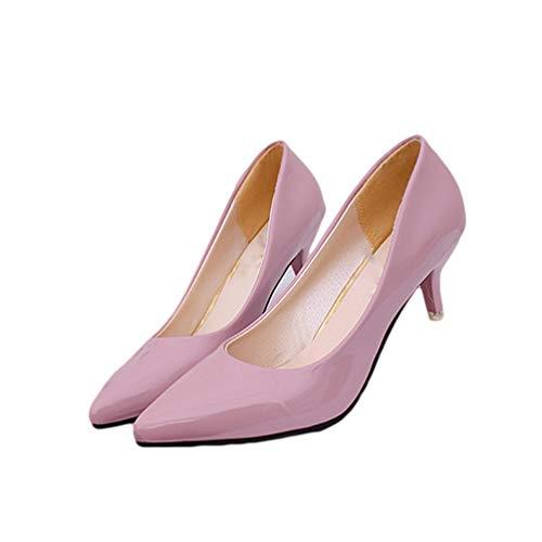 Femmes de Chaussures Pointues d'affaires de Travail Talons Les Mariage Pompes Rose Chaussures Mode Orteils Hauts Sexy Femmes gOxwn7qf8