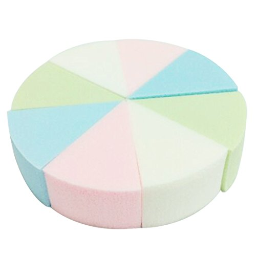 Triangle Candy Color Soft Face Cleansing Pad Cosmetic Sponge Puff - Shaped Triangle Face