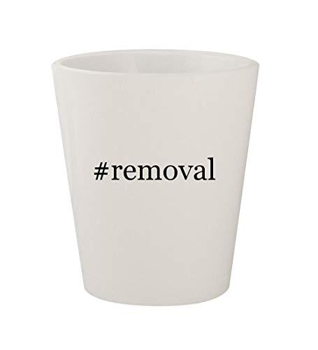 #removal - Ceramic White Hashtag 1.5oz Shot Glass