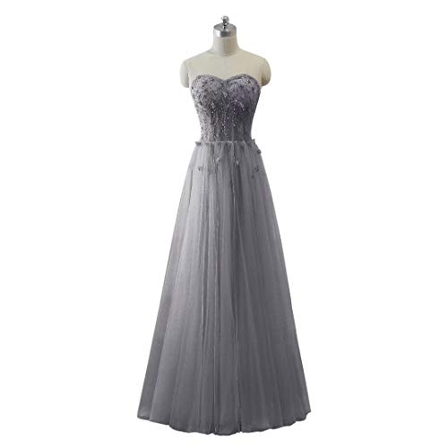 Maxi Long 107 Ballkleider Frauen Love Tulle Perlen Formal King's Schatz Abendkleid vI81qw1