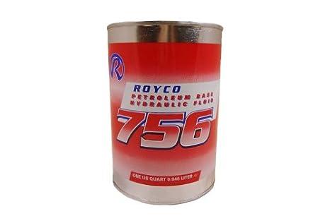 Royco - 756 Hydraulic Fluid, Mil-PRF-5606H - 1 Quart