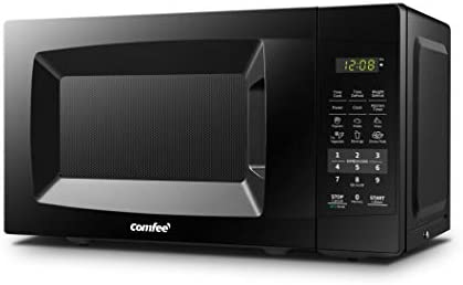 COMFEE' EM720CPL-PMB Countertop Microwave Oven with Sound On/Off, ECO Mode and Easy One-Touch Buttons, 0.7cu.feet, 700W, Black